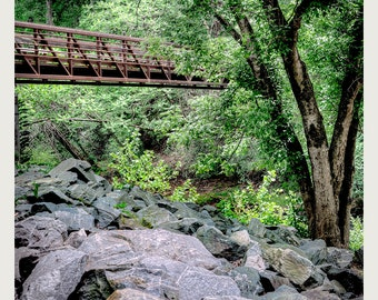 Bridge On The Trail - Art & collectible photo Giclee prints for home decor or gift suggestion for any occasion.