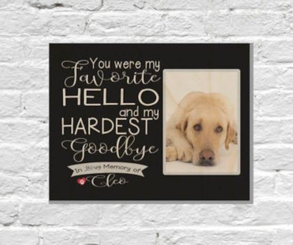 Pet Loss Gifts Pet Memorial Frame Dog Sympathy Pet Memorial