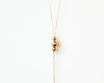 Ysa // Brass Ball Necklace