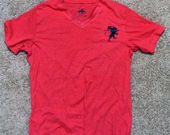 The Chimera Triblend Red V Neck Tshirt