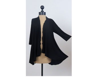 Black Lace Back Duster