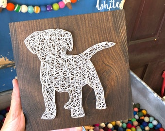 READY TO SHIP String Art Puppy Sign