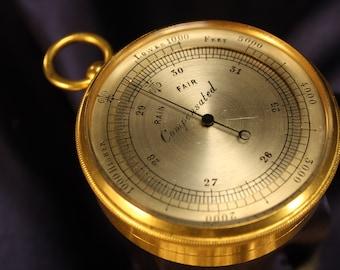 Antique Victorian Pocket Barometer Altimeter c1865