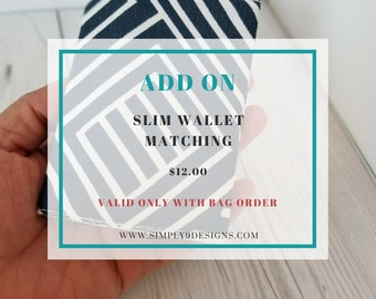 Slim Wallet Add-On (Only available with bag order)