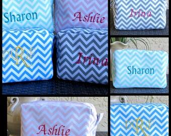 Teacher Gift Teacher Appreciation Gift CHEVRON Makeup Bag  Cosmetic Bag  Monogrammed Makeup Bag Cosmetic Bag Bridesmaid Gift Teacher Gift