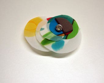 Silk brooch - Circles