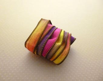 Ribbon color No. 410 hand dyed silk