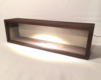 LED Lighted Shadow Box Frame - 28x7x5 - Display Case, Rustic Shadowbox | Artisan Rustic Collection