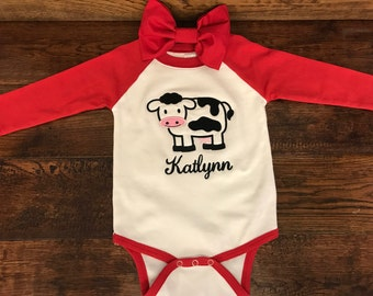Baby Clothes - Cute Cow Design - Cute Baby Clothes - Trendy Clothes - Kids Clothes - Cute Kids Clothes - Baby Shower Gift Idea - Baby