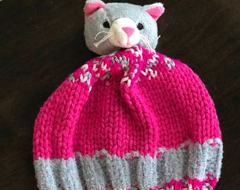 Hand made Hat Kitten Cat 0-3 month Size Beanie Gift Ready To Ship