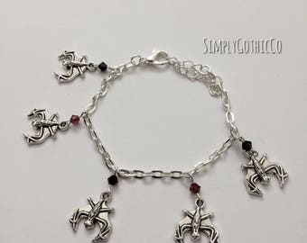 Gothic Bat Charm Bracelet- ONE LEFT