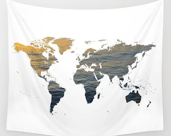 world map wall tapestry map large size wall art modern decor outdoor