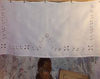 A valance or a small curtain, hand embroidery