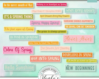 Hugs, Kisses And Springtime Wishes Word Bits