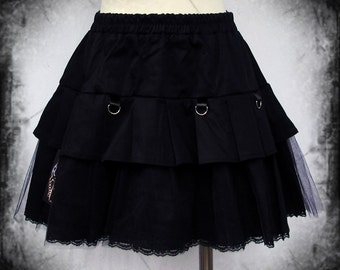 Chained pleats skirt