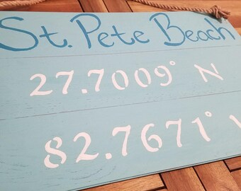 Custom Coordinates Home Sign