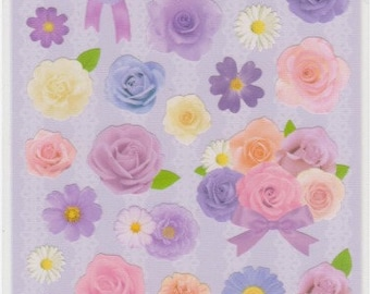 Flower Stickers - Real Floral Stickers - Reference A4557-58