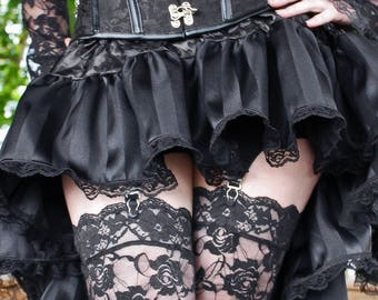 BellaDonna Steampunk High Low Ruffle Skirt - Made to Measure