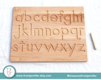 Printed Alphabet Wood Tracing Board Lowercase and/or Uppercase