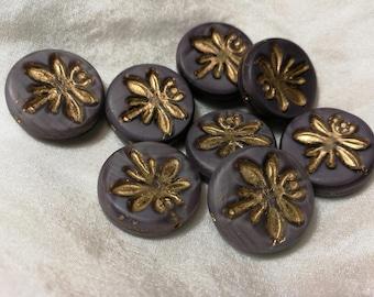 4 purple dragonfly beads