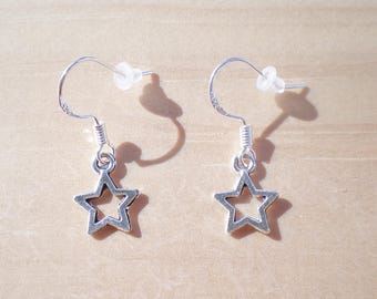 Star Earrings, Celestial Earrings, Charm Earrings, Jewelry Findings
