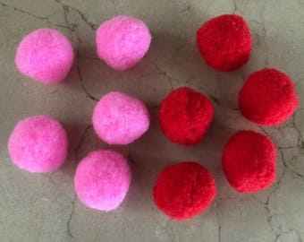 set of 10 balls tassel 25 mm