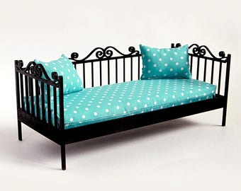 Doll daybed #2. Scale 1/6 YoSD (bjd, barbie, monster high, momoko, blythe, obitsu, azone, unoa, FR, pullip, volks, fashion doll furniture)