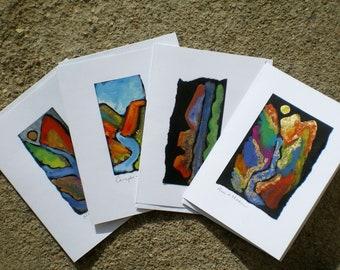 Rios and Mesas hand painted cards of Northern New Mexico Taos Santa Fe Sange de Christo Rio Grande Gorge