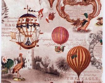 Decoupage Napkins | Vintage Americana Balloons Airships | American Napkins | Balloon Napkins | Airship Napkins | Paper Napkins for Decoupage