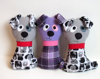 Dog Pattern - Scruffy the Stuffed Doggie PDF Sewing Pattern - Soft Dog Toy for Babies Toddlers Child-Safe or Dog Toy Wolf Pattern