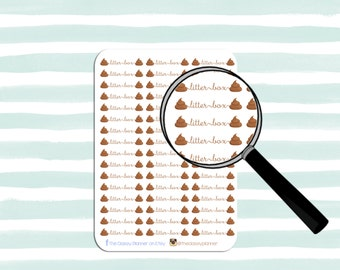 SCRIPT SERIES | Litter Box Stickers for your planner