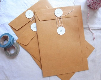 Brown kraft string & tie envelope / String and Button envelopes - 5
