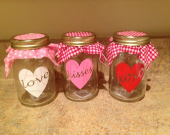 Set of 3 Valentine Decals