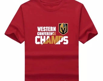 Vegas T-shirts Golden Knights Western Conference Champions 2018 100% cotton