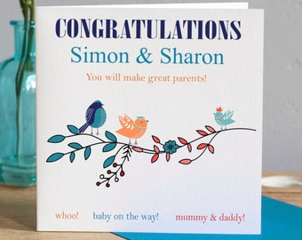 Baby Shower Card - Parents To Be Card - Mum to be Card