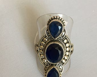 925 Silver ring and iolite