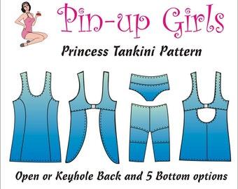 The PRINCESS TANKINI PATTERN  by Pin Up Girls