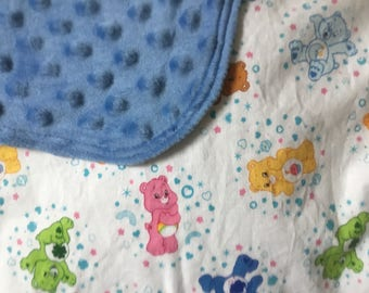Bears blanket-caring bears blanket-retro baby blanket-care bears bedding-care bears nursery-boy minky blanket-retro nursery blanket
