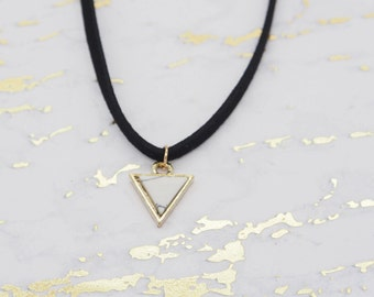 Triangle Pendant - Choker