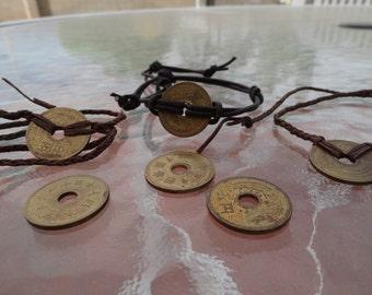 Japanese 5 Yen Coin Bracelets