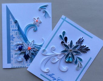 Quilled Merry Christmas Cards