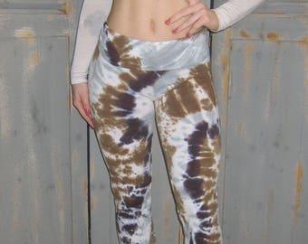 Yoga Pants, Tie Dye, Bohemian, Festival Pants, Free Spirited, Earth Tone