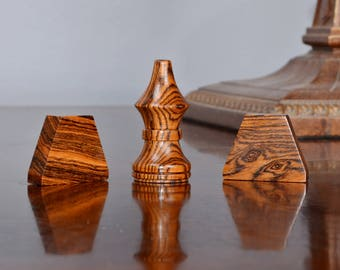 Tak Game Pieces - Various Exotic Woods