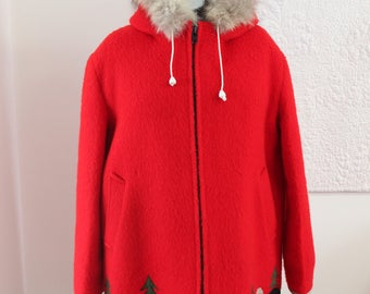Vintage Hudson's Bay Company Eskimo Wool and Embroidered Coat