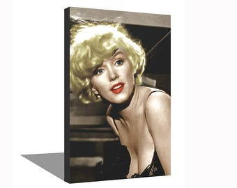 Marilyn Monroe 100% Cotton Canvas Print Using UV Archival Inks Stretched & Mounted