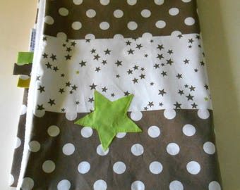 PROMO! Light brown cover, applieques star