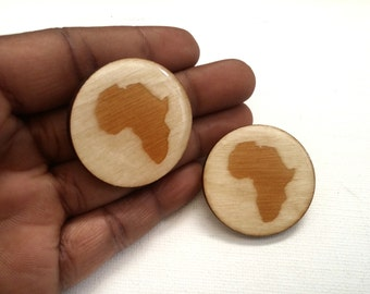 Africa Earrings - Africa Shaped Earrings - Africa Shaped Studs