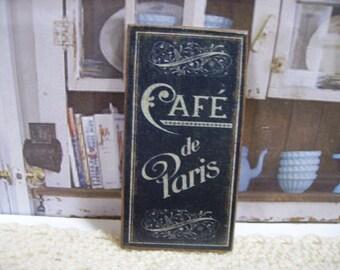 Café de Paris Miniature Wooden Plaque