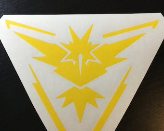 Pokemon Go Team Instinct Vinyl Decal
