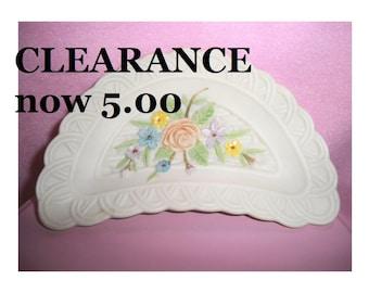 Bone Dish - Lefton Half Moon Decorative Plate - CLEARANCE SALE